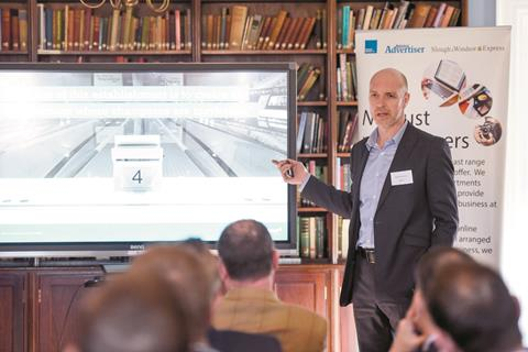 Adrian Moorhouse speaks at Royal Borough Business Forum