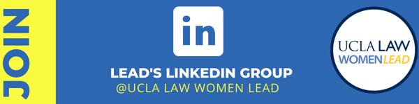 Logo for UCLA Law's LEAD LinkedIn Group
