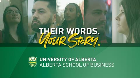 School of Business Their Words. Your Story graphic