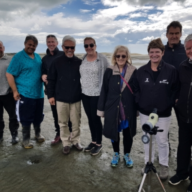 Auckland Conservation Board Guests at Papakanui Spit.