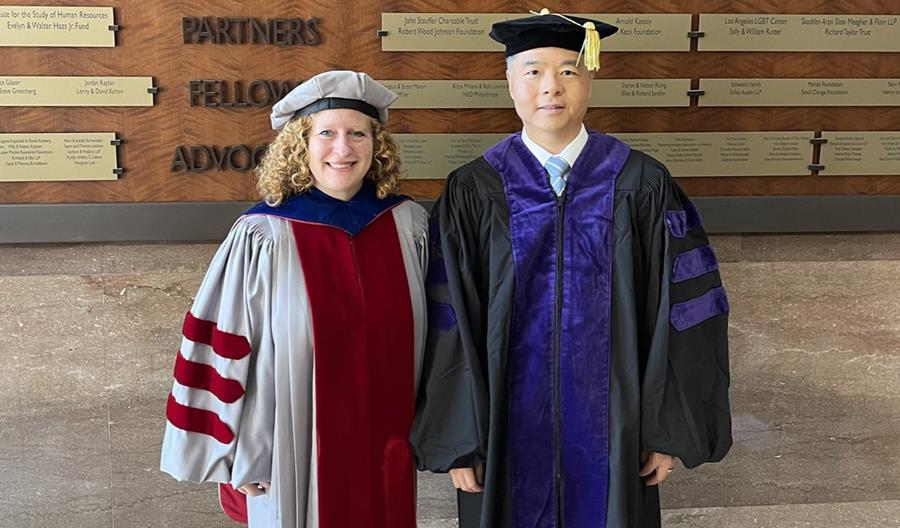 Dean Jennifer L. Mnookin (left) and Rep. Red Lieu