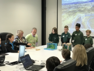 Children from four east Christchurch schools presnt their ideas to Regenerate Christchurch and the Children's Commissioner