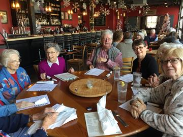 Photo of lunch group at Bone-In Barbecue
