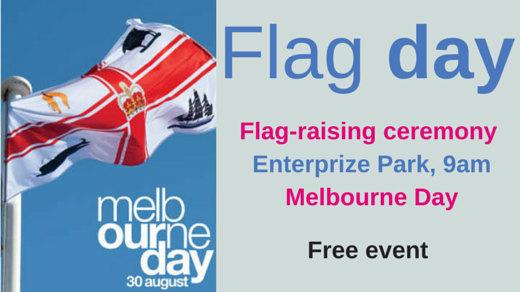 Official flag-raising ceremony at Enterprize Park