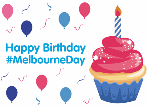 Melbourne Day magic cupcake, click to learn how to make it come alive