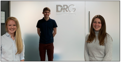 Three new trainees join DRG team