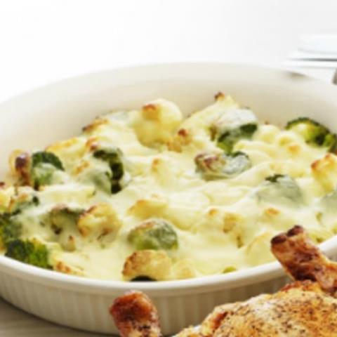 Cauliflower and broccoli cheese recipe
