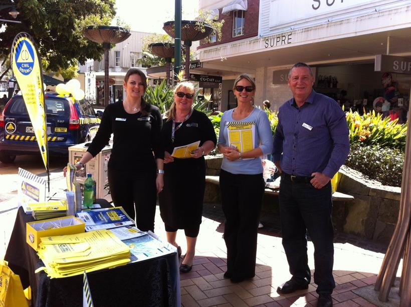 Northland CDEM Group members at a street stall during Get Ready Week 2014.