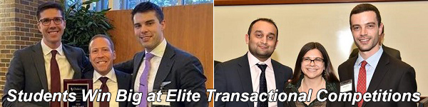 Students Win Big at Elite Transactional Competitions