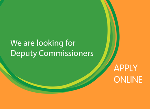 We are looking for deputy commissioners graphic