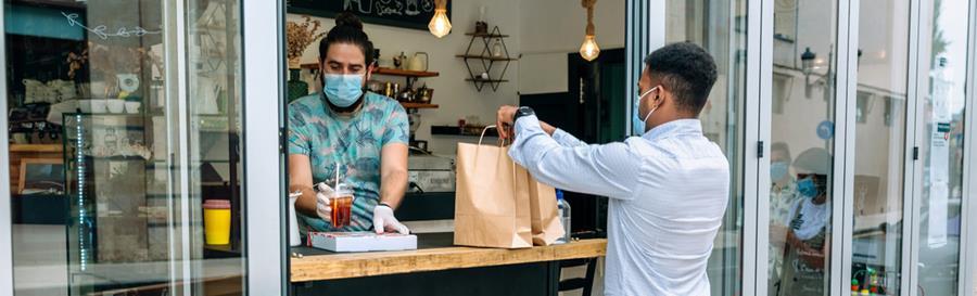 Takeaway shop during coronvirus lockdown