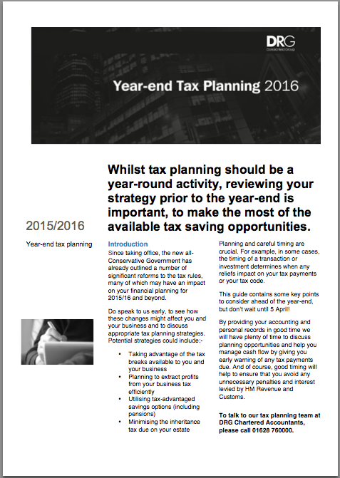 Year-end tax planning fact sheet