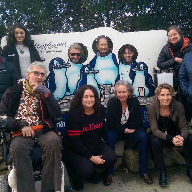 Otago Conservation Board members and DOC staff during the Oamaru Penguin Colony Field Trip.