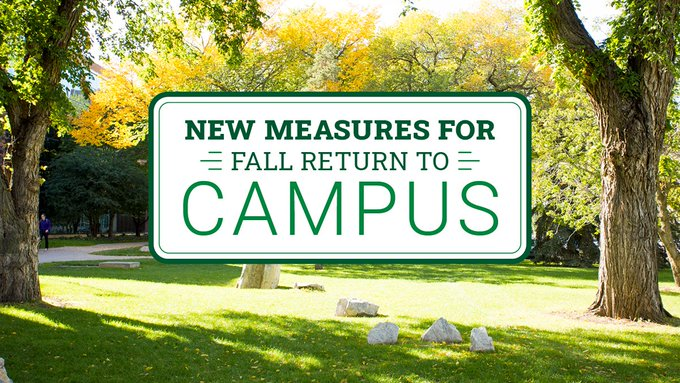 fall return to campus graphic