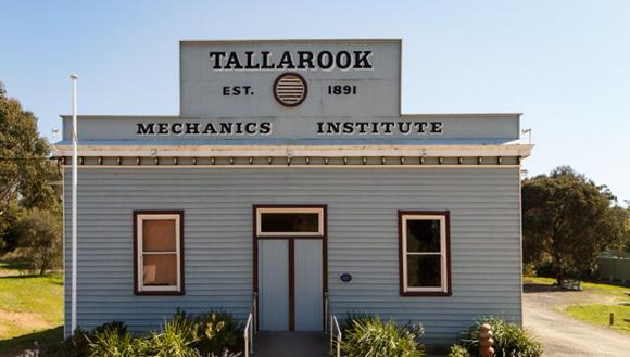 The former Tallarook Mechanics Institute hall