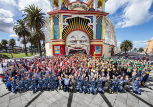 Over 1,400 female students participated in interactive activities at Melbourne's Luna Park. AIR4