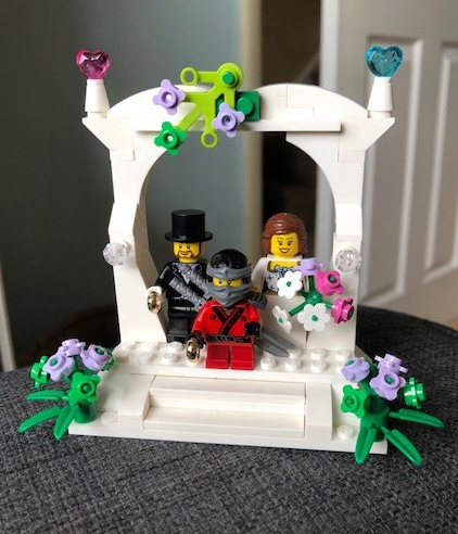 Lego Wedding Scene (with added Ninja)