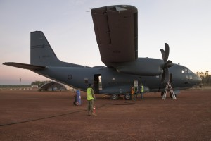 The 9th Force Support Battalion refuel a RAAF C-27J Spartan aircraft at Batchelor Airfield during Exercise Pitch Black 2018. Defence
