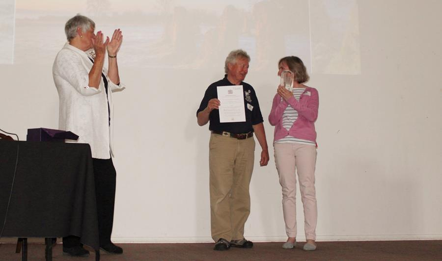 Rebecca Jones and John Shaw receive The Queen's Award for Volunteering