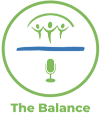 """Logo for BCAHL's podcast, """"The Balance"""""""