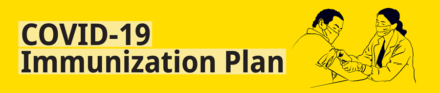 "Banner graphic titled ""COVID-19 Immunization Plan"""