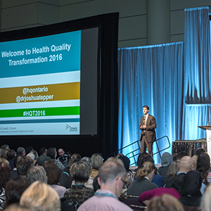 Dr. Joshua Tepper speaking at Health Quality Transformation 2016