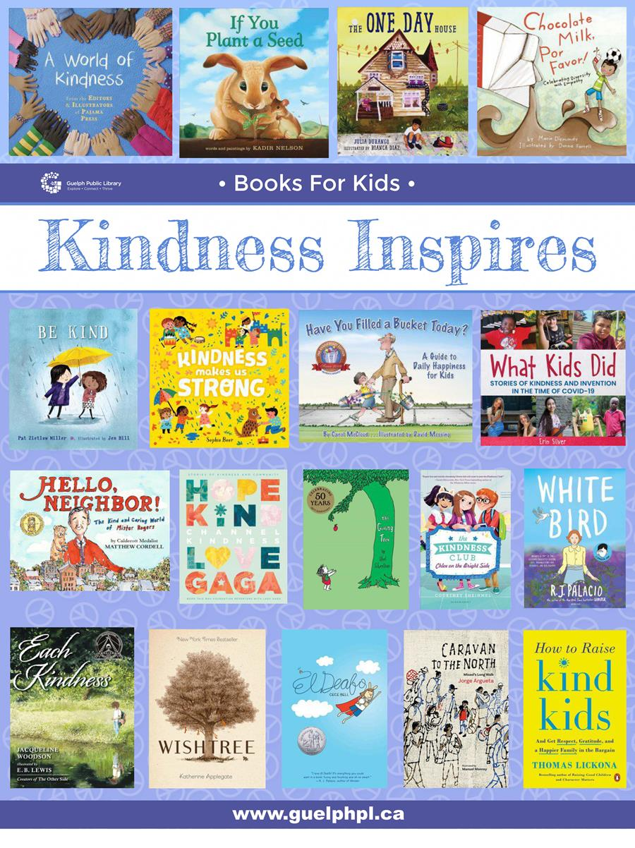 Be inspired by kindness. Check out a book about Kindness for kids at any library location