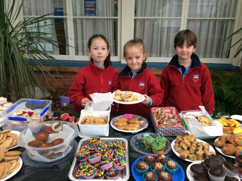 bake sale day at Owairoa Primary School