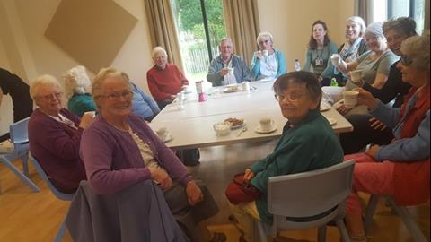 Residents at one of Sue's coffee mornings