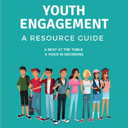 Detail from the cover of the Youth Engagement Resource Guide