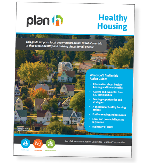 The report cover for the Healthy Housing Action Guide