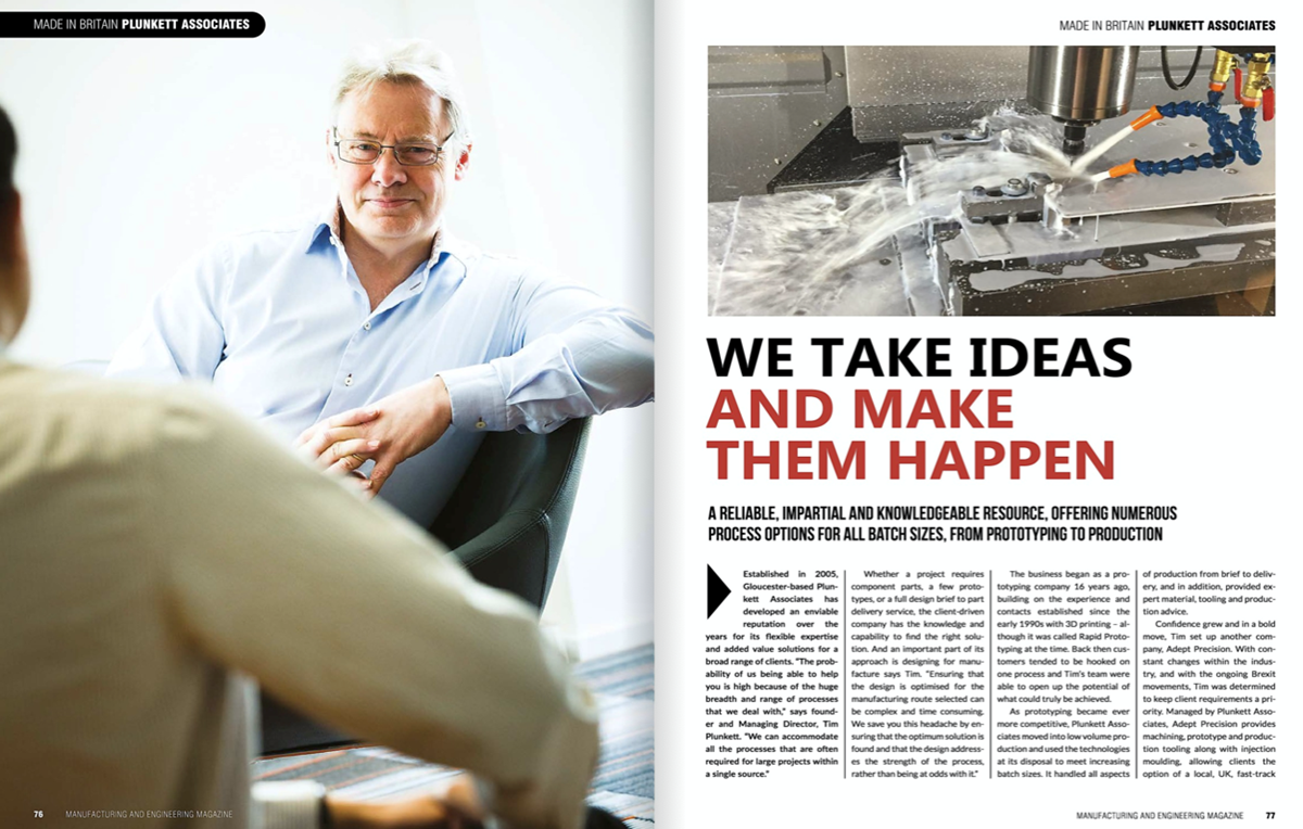 Plunkett Associates: We Take Ideas and Make them Happen