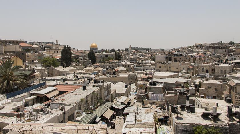 The separation wall as seen in Bethlehem, the West Bank. (MCC Photo/Emily Loewen)