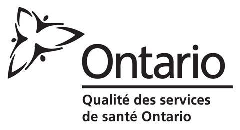 Qualité des services de santé Ontario logo