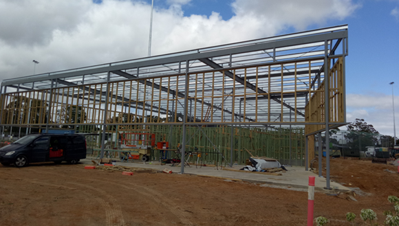 Construction of new pavilion