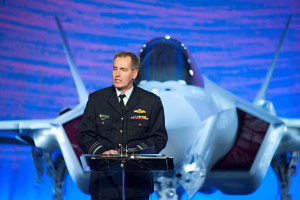 Now retired AIRMSHL Geoff Brown on the occasion of the rollout of the first Australian F-35. Credit: Lockheed Martin