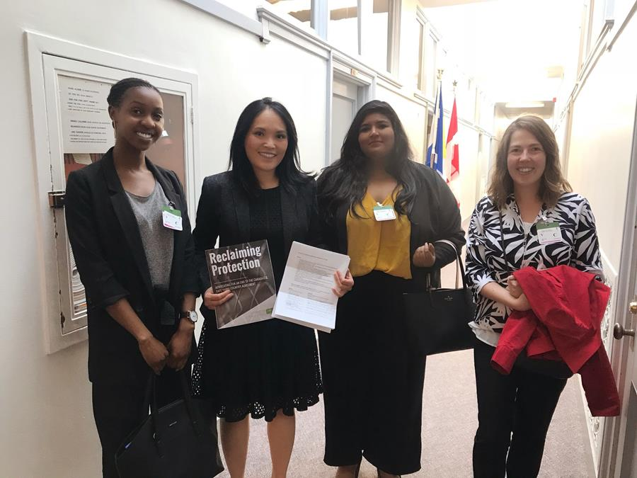 Delivering petition on refugee travel loans to Jenny Kwan, Ottawa (photo credit: CPJ)