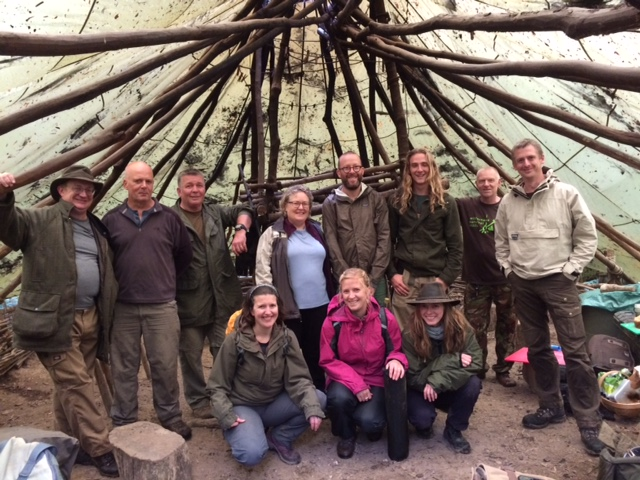 Group photo from the wild food and cooking autumn weekend 2020