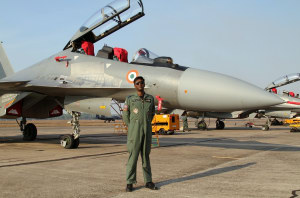 Commanding Officer of 102 Squadron, Group Captain Prem Anand, callsign 'Andy'. Nigel Pittaway