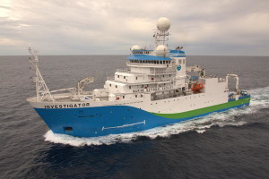 Candidate designs that had already been identified as of interest were fundamentally based on commercial research ships such as the 6,082 tonne MV Investigator owned by the CSIRO. Credit: CSIRO CC by 3.0