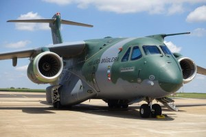 A Brazilian Air Force KC-390.