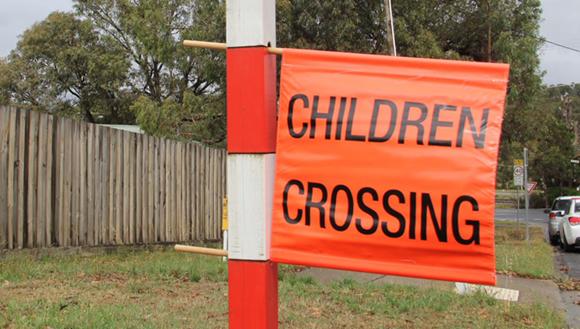 School crossing flag