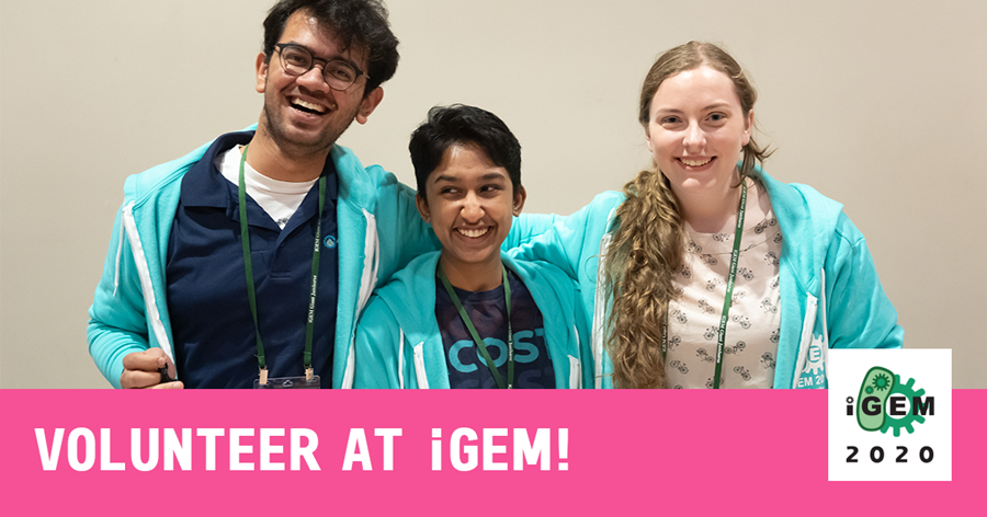 "img: ""Volunteer at iGEM!"""