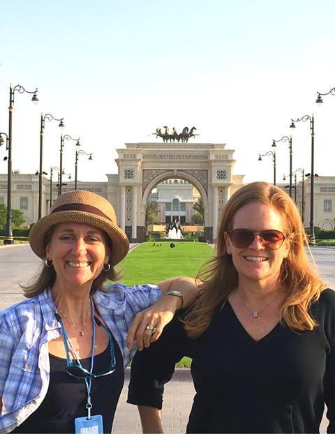 Lisa and Jane in Dubai