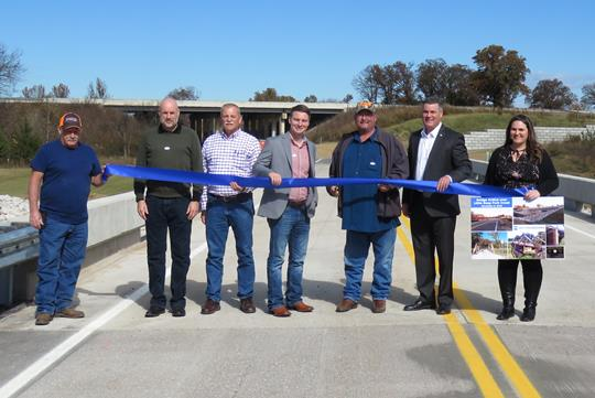 BR #181A over Little Deep Fork Creek ribbon cutting