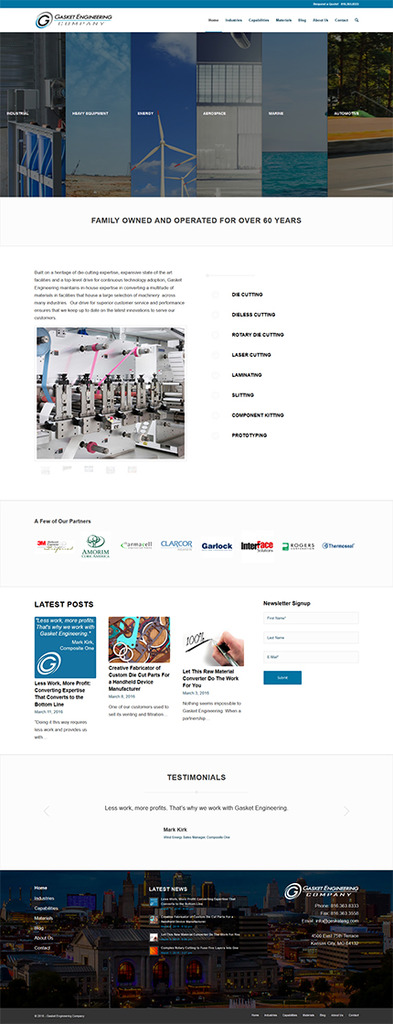 Gasket Engineering Co. Website