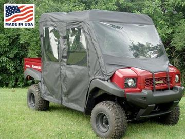 Kawasaki Mule 4000/4010 Trans Full Cab Enclosure with Vinyl Windshield by GCL UTV