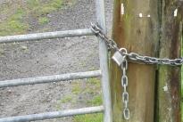 Locked gate image