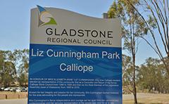 Liz Cunningham Park signage