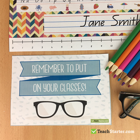 Remember to Put on your Glasses Desk Prompt